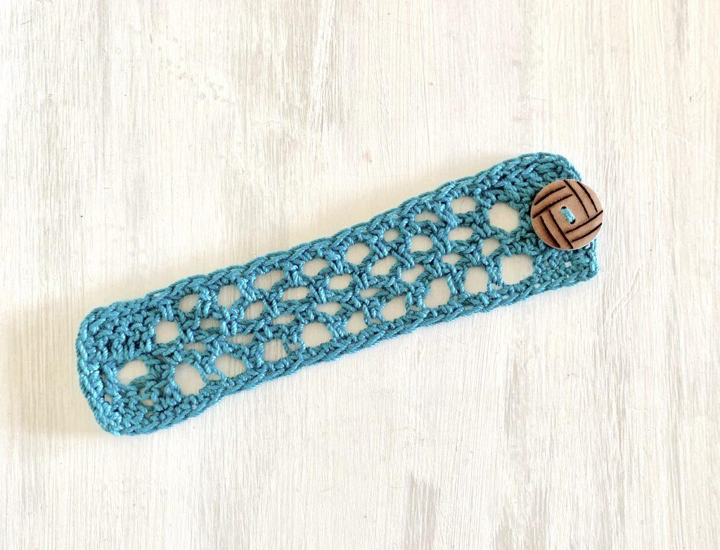 fishnet cuff bracelet, mesh crochet bracelet